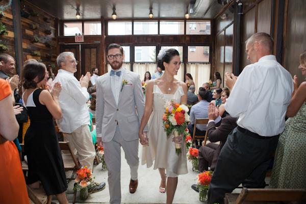 bride & groom at brooklyn winery wedding