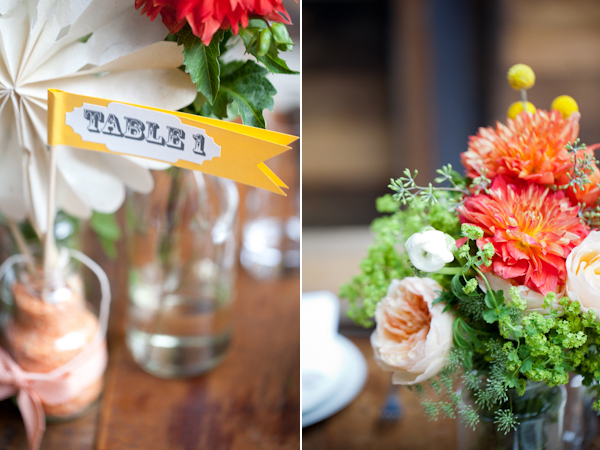 table numbers & centerpieces