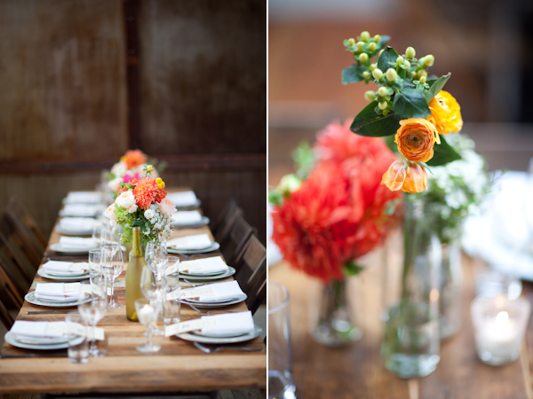centerpieces at brooklyn winery wedding