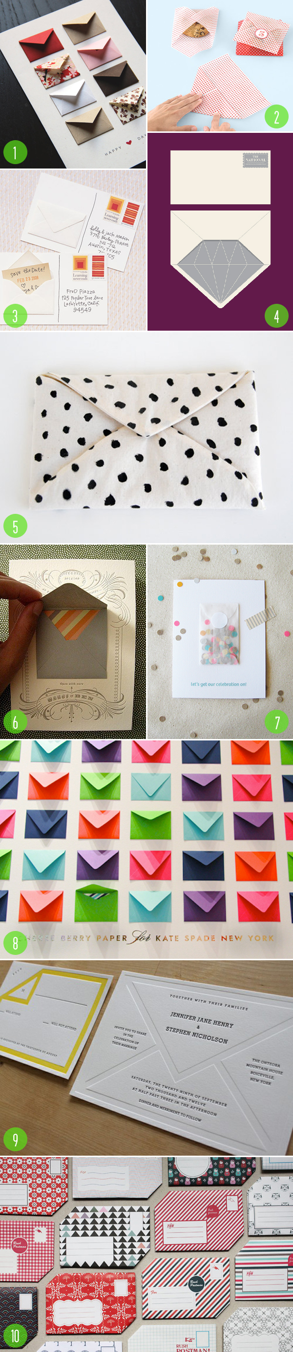 top 10: envelope inspiration