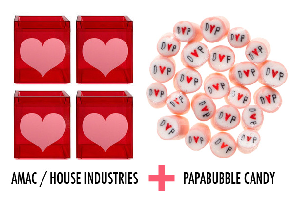 heart favors with papabubble candy