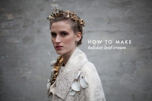 how-to-make-holiday-leaf-crown 1