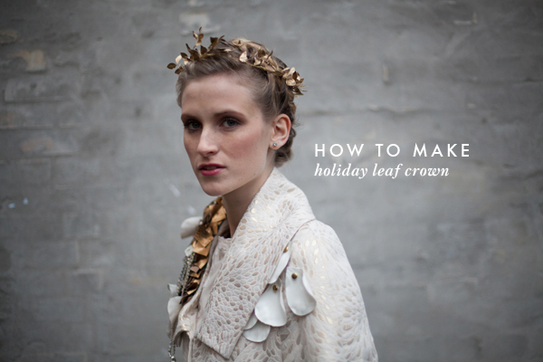 DIY: How to make a holiday leaf crown 13