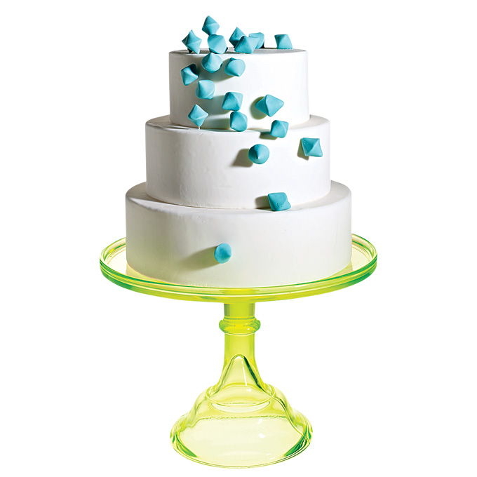 Green And Blue Tiered Cake