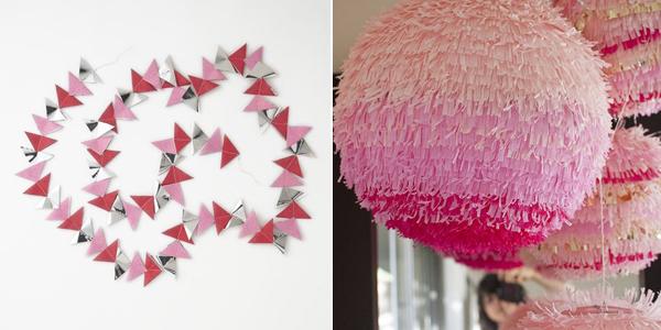 pink lantern and garland