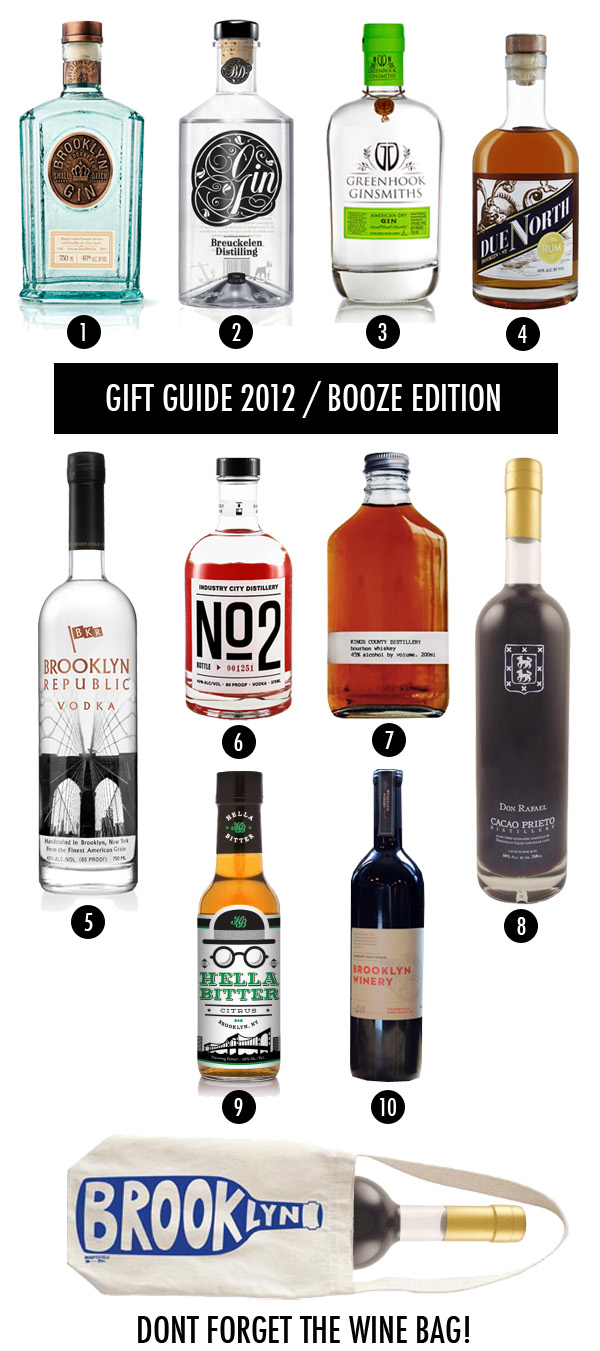 Brooklyn alcohol themed gift bag