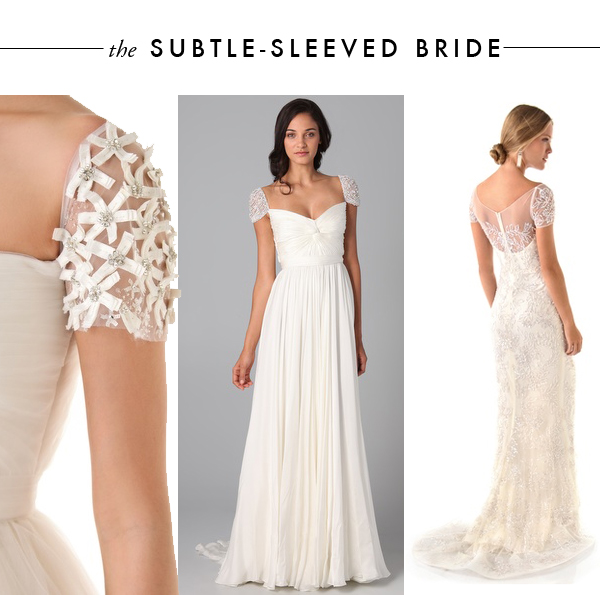 Subtle sleeves brooklyn bride modern wedding blog for Wedding dress sleeve attachments