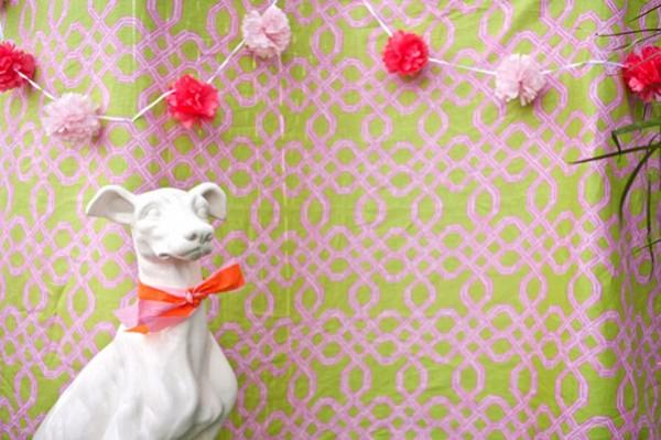pink garland decor