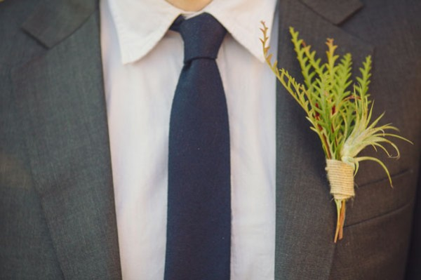 green boutonniere