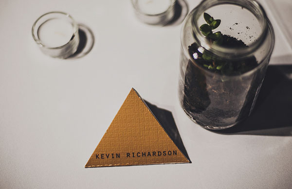 triangular favor box escort card
