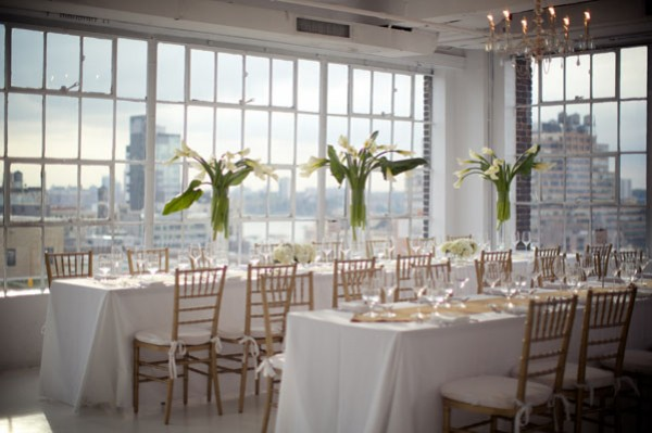 modern white reception