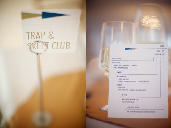 table number and menu with triangle design