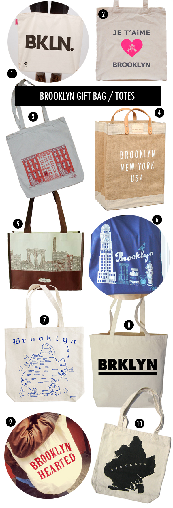 out of town brooklyn themed gift bags
