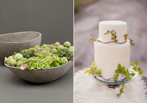 perfect pair: greenery cake and planter
