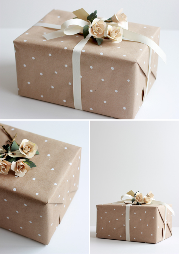Diy How To Make Polka Dot Wrapping Paper Brooklyn Bride Modern