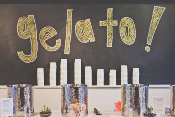 ice cream bar at wedding
