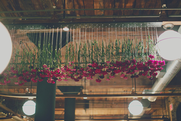 hanging floral display