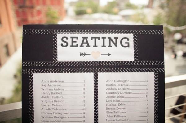 modern seating chart
