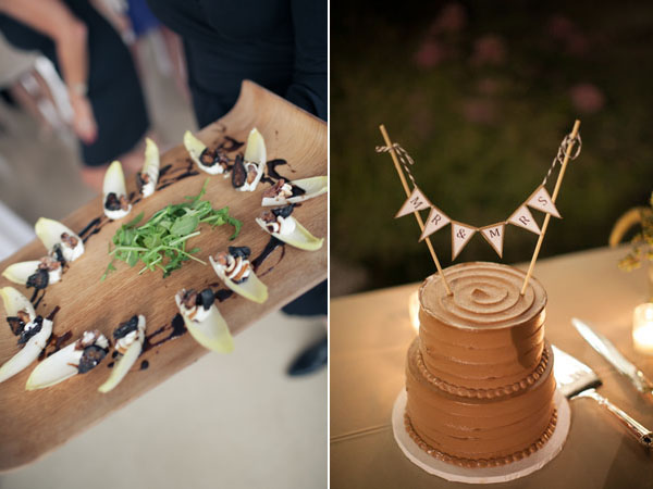 catering and chocolate wedding cake