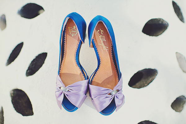 blue bow shoes