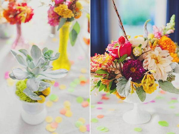 modern colorful centerpieces