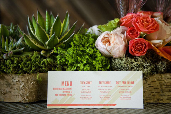 neon pink menu