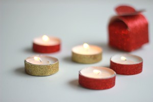 glitter-paper-on-tea-lights