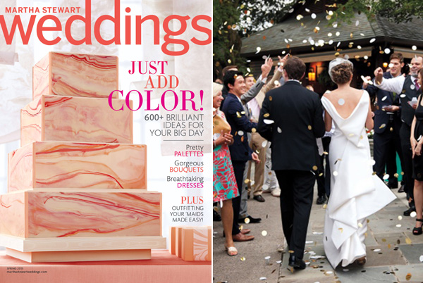 martha stewart weddings cover