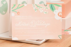 floral invitation from minted