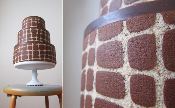 M. Robin brown graphic wedding cake