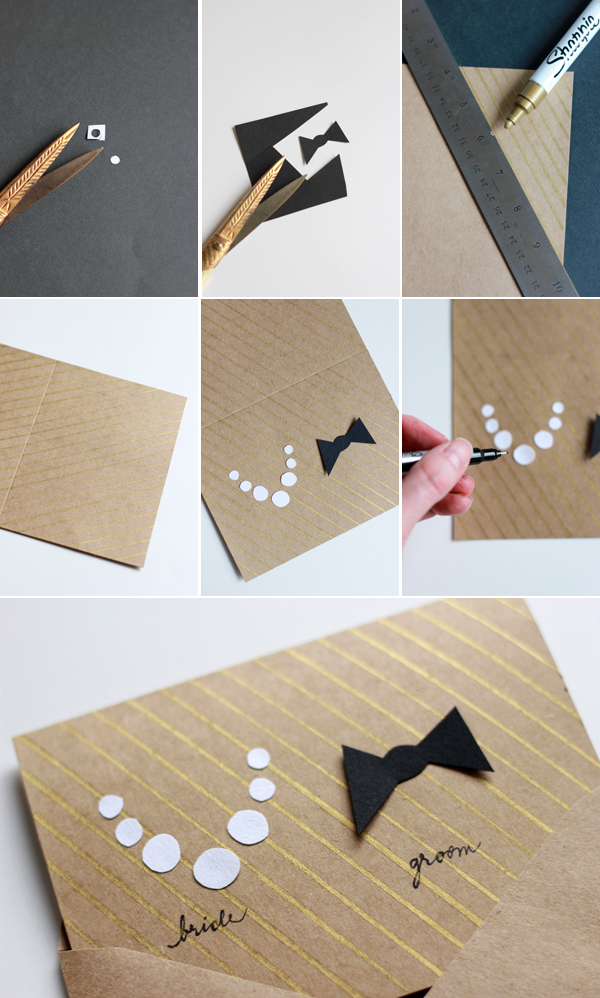 DIY: Make a card for the bridal couple 3