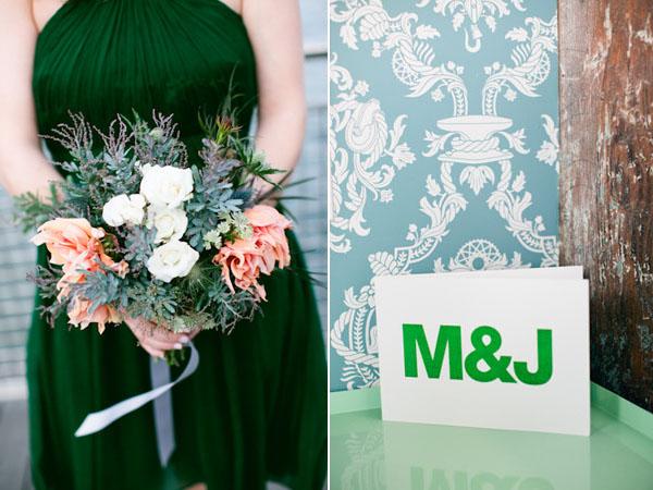 bouquet & card