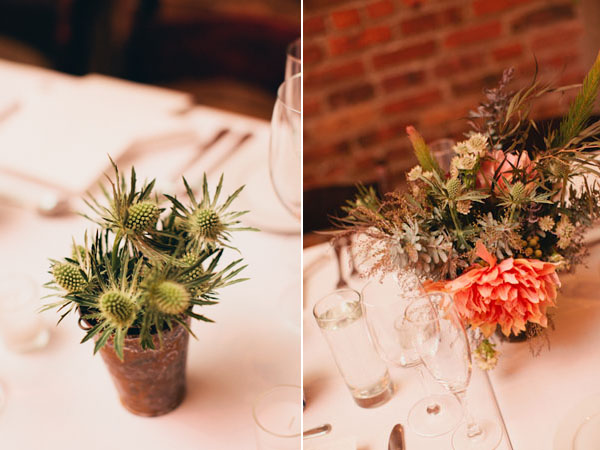 rustic modern centerpieces