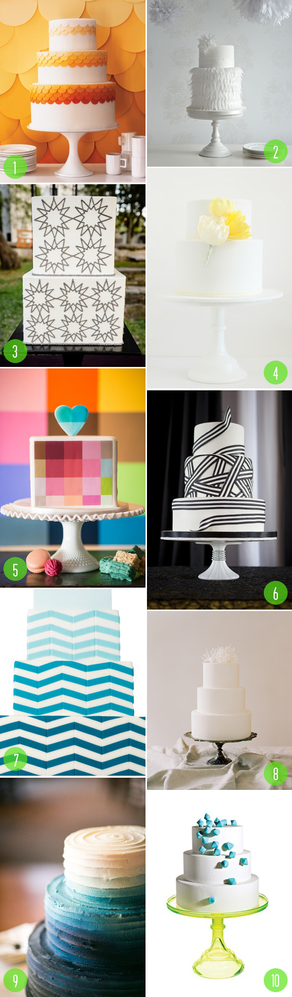 top 10 modern wedding cakes