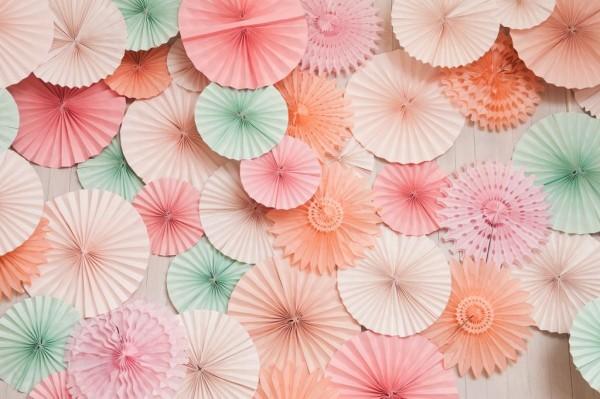 pastel paper pinwheels