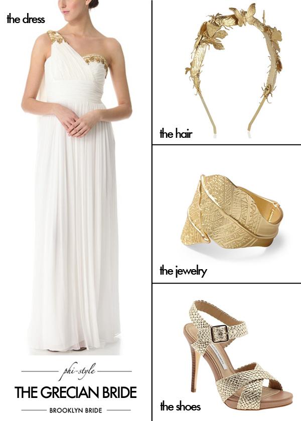 Phi Style The Grecian Bride Brooklyn Bride Modern Wedding Blog
