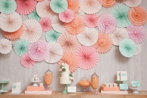 floral pinwheels and pastel decor from minted