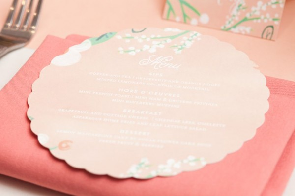 floral menu from minted