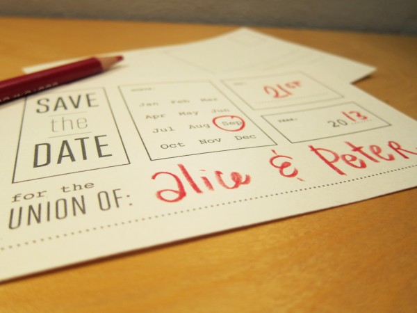 precious bugarin printable save the date