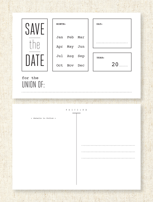 precious bugarin printable save the date