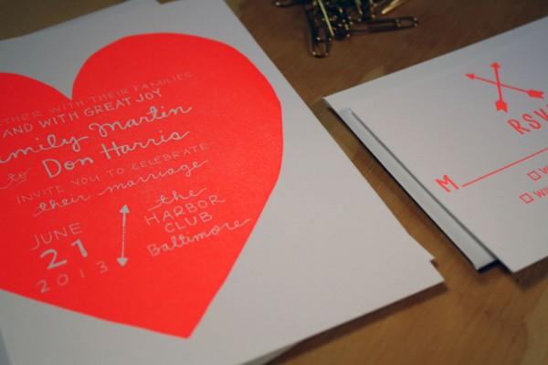 printerette neon invitations