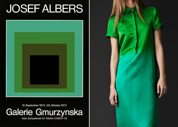 ombre green albers & burberry dress