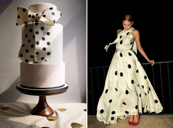 polkadot cake & dress