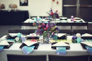 galaxy inspired tablescape