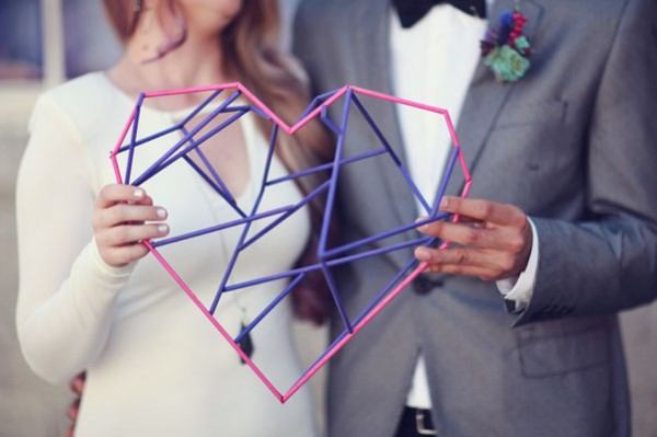 geometric heart decor