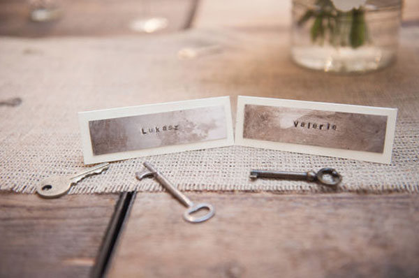 metal stamped escort cards