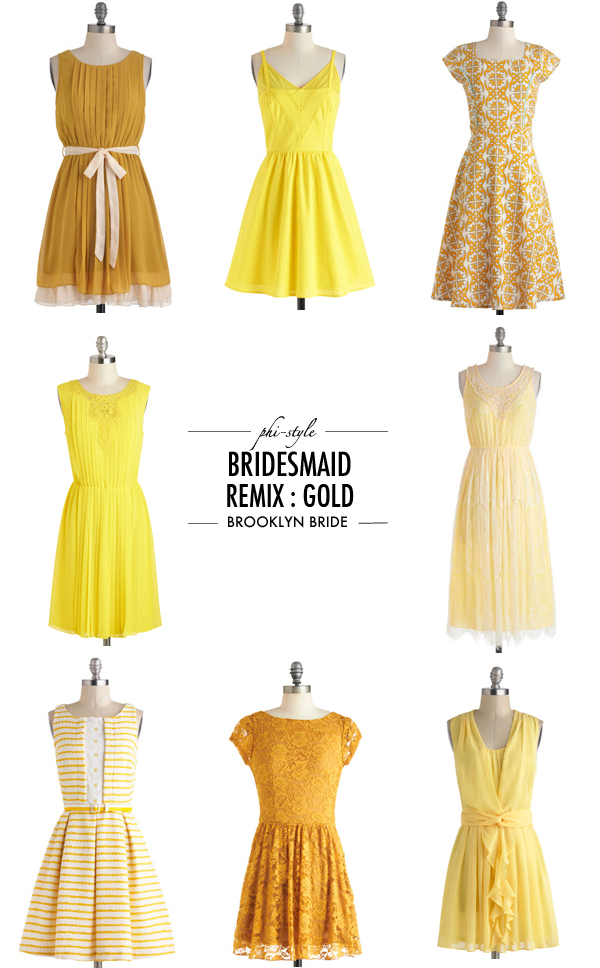 bridesmaidgold