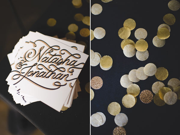 black & gold invitations