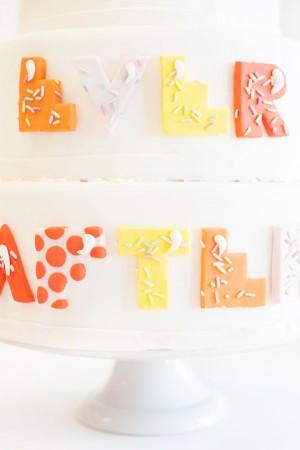 bubble letter cake