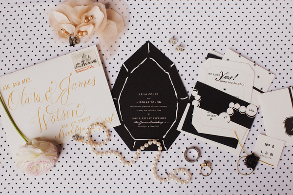 Chanel Inspired Invitations Brooklyn Bride Modern Wedding Blog